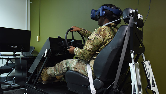 Simulator helps Airman overcome trauma