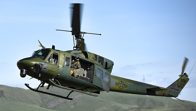 Image of a UH-1N Iroquois in flight