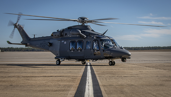 Photo linked to an article for Malmstrom's newest helicopter