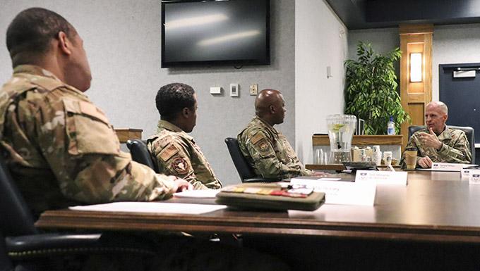 VCSAF Wilson visits MAFB, Airmen