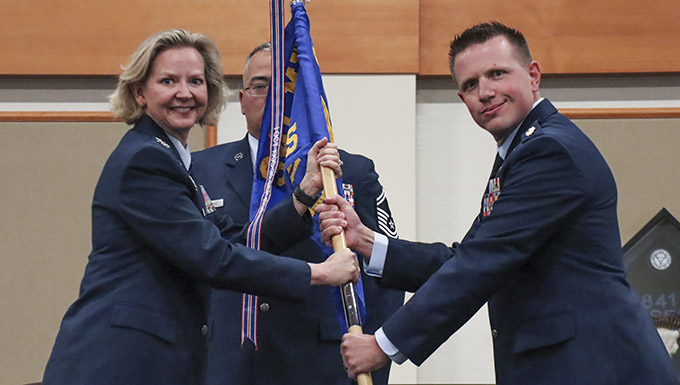 341st Comptroller Squadron change of command