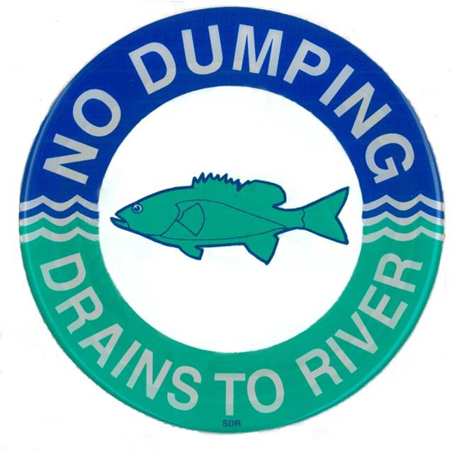 No Dumping, Drains to River